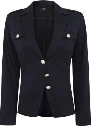 Синий темный пиджак без подкладки хлопковый (формат-школьная форма)