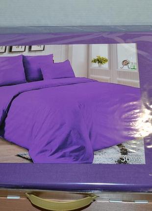 Однотонное постельное белье p-3633 поплин tag