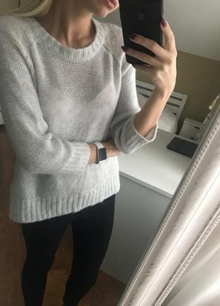 Роскошный теплый мягкий свитер из шерсти мохера