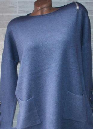 Шикарная кофточка с завязками на рукавах,кашемир 44-56