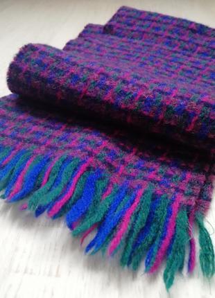👑 шерстяной шарф💜теплый шарф в клетку