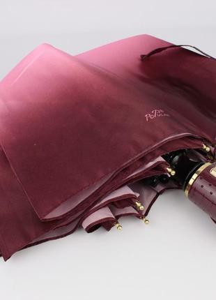 Красивый качественный складной зонт автомат popular 422-1а бордово-розовый