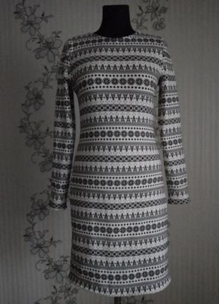 Новое трикотажное платье на меху, размеры хs,s,m,l.