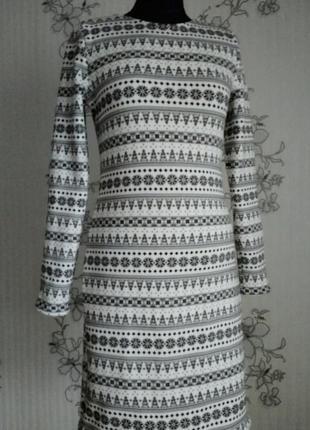Новое трикотажное платье на меху, размеры хs,s,m,l.2