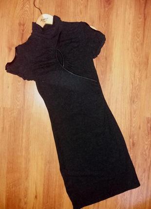 Базовое платье с коротким рукавчиком