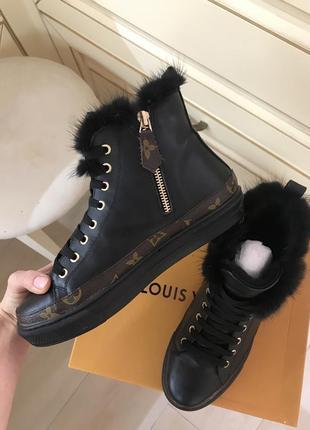 Кеды ботинки зимние louis vuitton