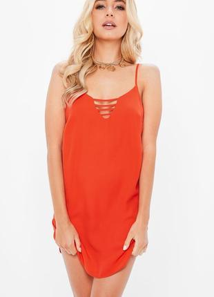Стильное красное платье от missguided