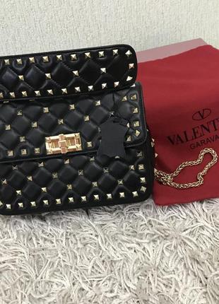 Брендовая сумочка в стиле valentino, натуральная кожа