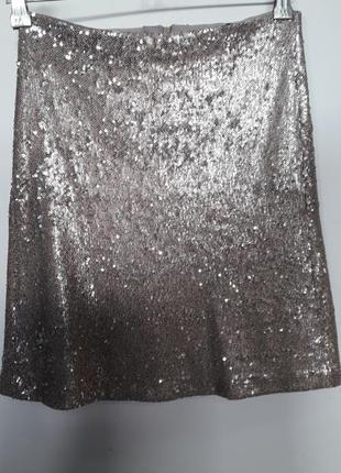 Тренд нового года!!! золотистая юбка в паетки от zara