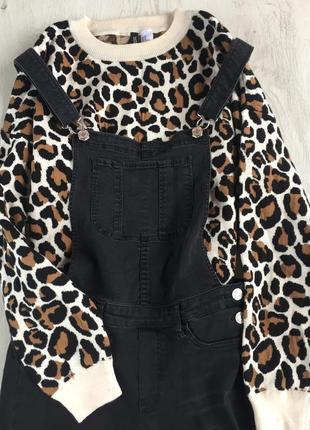 Свитер h&m леопардовый принт