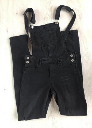 Комбинезон джинсовый чёрный h&m