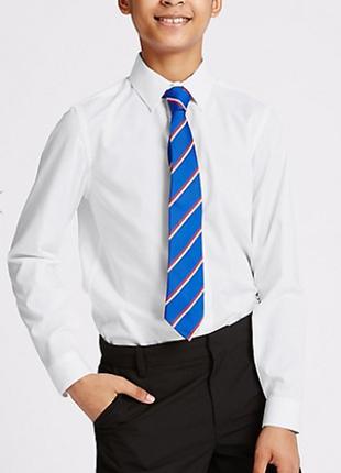 Школьная белая рубашка marks&spencer р.12-13лет рост 158см