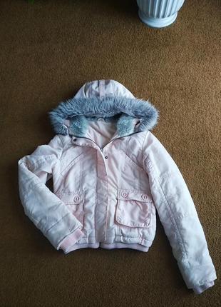 Куртка курточка с мехом со шнуровкой демисезонная весення