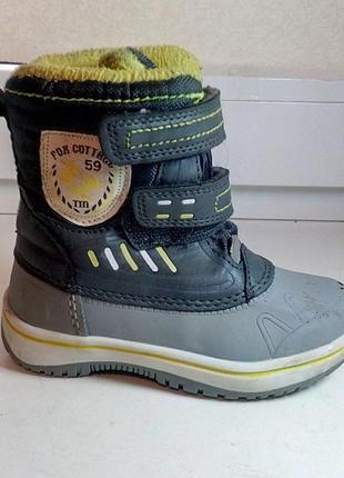 6756b772d Fox cottage фирменные демисезонные термо ботинки сапоги 23-24 размер