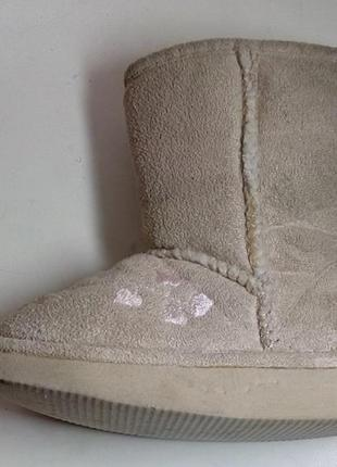 Фирменные утепленные зимние угги сапоги ботинки 22-23 размер