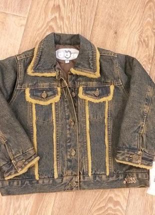 Куртка пиджак джинсовый р. 96