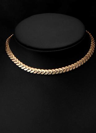 Новый чокер-ожерелье покрытие золотом