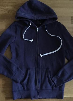 Спортивная кофта худи толстовка на флисе со встроеными наушниками олимпийка реглан джемпер