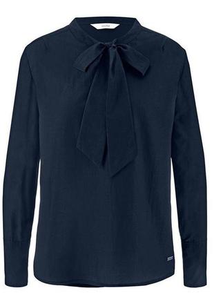 Эффектная блуза с бантом, шелк и био-хлопок,tchibo(германия), рр. наш: 52/54 (46 евро)