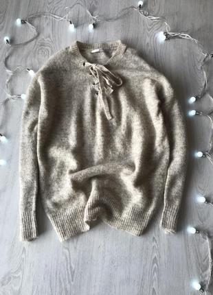 Теплий светр/ свитер зі шнурівкою only