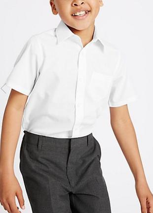 Школьная белая рубашка marks&spencer р.8-9 лет рост 135см
