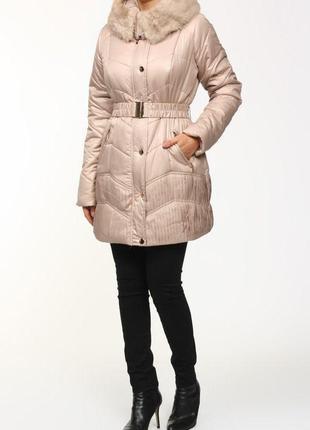 Зимняя куртка mohito пудра