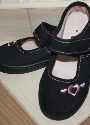 💕текстильные туфельки, тапочки tu  р.8, стелька 16,5 см
