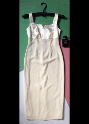 Платье-футляр белое маленький рост вечернее коктейльное свадебное