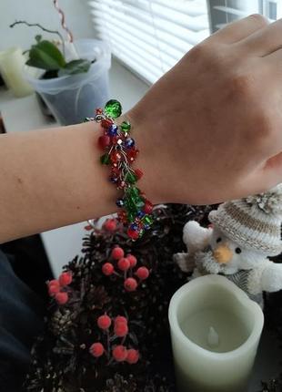 Очень красивый браслет из чешского стекла1