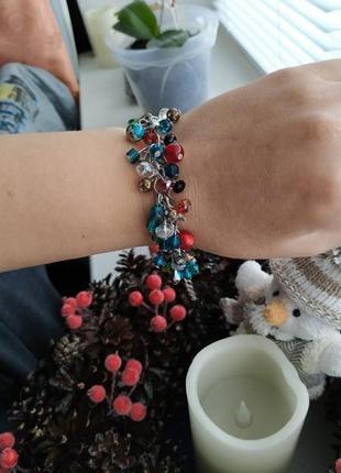 Очень красивый браслет из чешского стекла