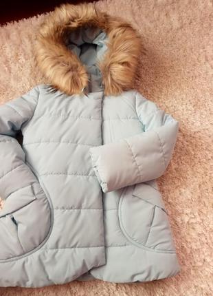 Супер теплая куртка зима густой мех