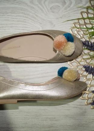 (34/21,5см) zara! красивые туфли, балетки на низком ходу