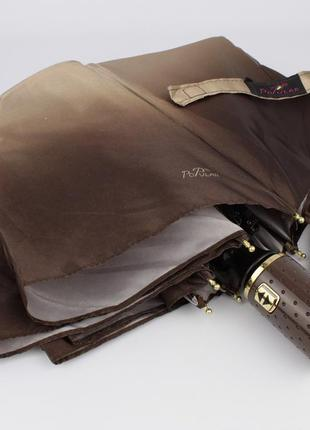 Красивый качественный складной зонт автомат popular 422-5а коричневый