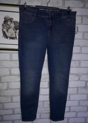 Old navy эластичные long скинни джинсы высокая посадка р 14