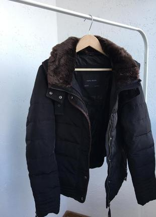 Zara куртка парка ,пуховик ,зимний