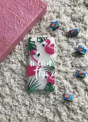Чехол фламінго  iphone 7/8 plus