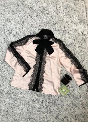 Нежная блуза с кружевом3 фото