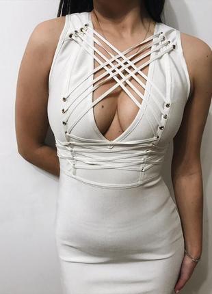 Сексуальное бандажное платье