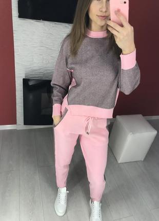 Костюм розовый кашемировый размер m