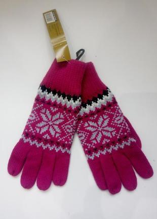 Теплые вязаные перчатки сток из сша