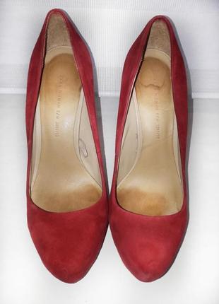 Красные туфли zara