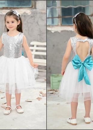 12-34 нарядное детское платье на выпускной праздник утренник фотосессию 128 134