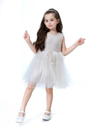 12-35 нарядное детское платье на выпускной праздник утренник фотосессию 116 122 128