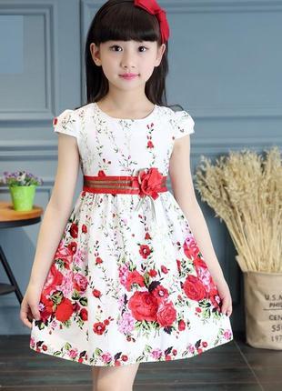 12-36 нарядное детское платье на выпускной утренник фотосессию 134 140