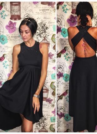 Красивое вечернее платье с открытой спиной от mohito