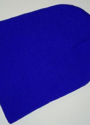 Синяя шапка-трансформер демисезонная