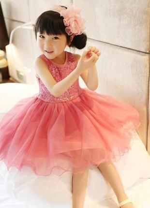 12-38 нарядное детское платье на выпускной праздник утренник фотосессию 122 128 134