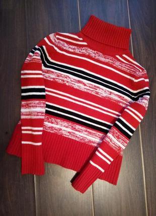Вязаный свитер водолазка гольф