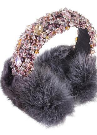 Навушники хуряні стильна заміна шапки (меховые наушники)