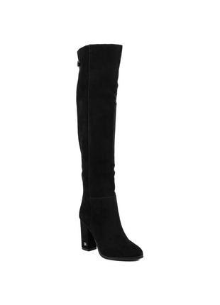 995ц женские ботфорты sufinna,замшевые,на каблуке,из зауженным носком,на толстом каблуке
